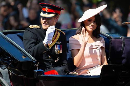 شاهزاده هری و مگان مارکل در مراسم تولد رسمی ملکه بریتانیا –لندن