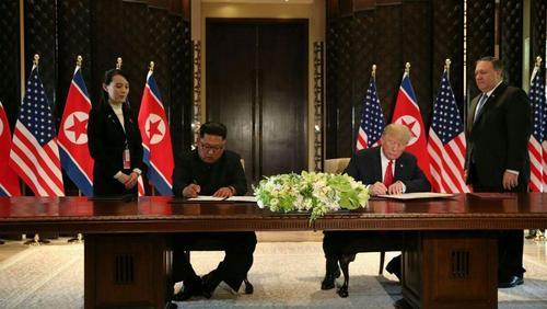 امضای توافق تاریخی بین آمریکا و کره شمالی برای خلع سلاح هسته ای پیونگ یانگ