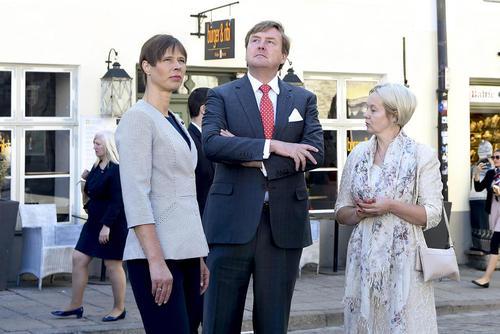 پادشاه هلند و رییس جمهوری استونی در شهر تالین استونی