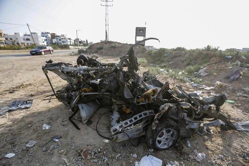 حمله هوایی اسراییل به یک خودرو در منطقه شجاعیه در شرق باریکه غزه