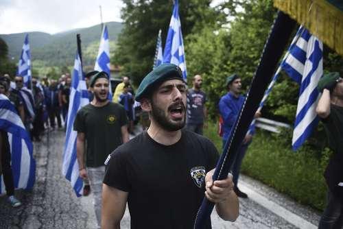 تظاهرات ملی گرایان یونانی بر ضد توافق اخیر این کشور با مقدونیه بر سر نام کشور مقدونیه/ آسوشیتدپرس