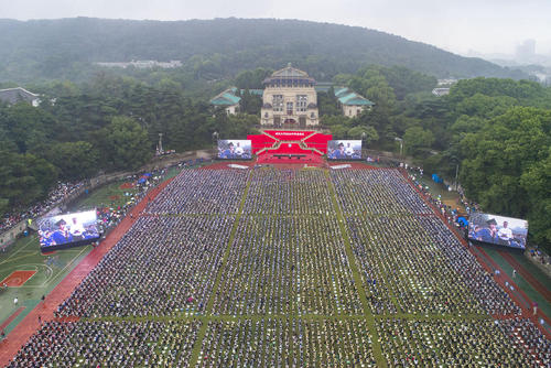 جشن فارغالتحصیلی 10 هزار دانشجوی دانشگاه ووهان چین