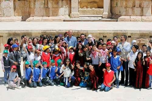بازدید شاهزاده ویلیام نوه ملکه بریتانیا در کنار شاهزاده حسین – ولیعهد اردن- از شهر تاریخی