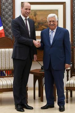 دیدار شاهزاده انگلیسی با محمود عباس رییس تشکیلات خودگردان فلسطینی در رامالله