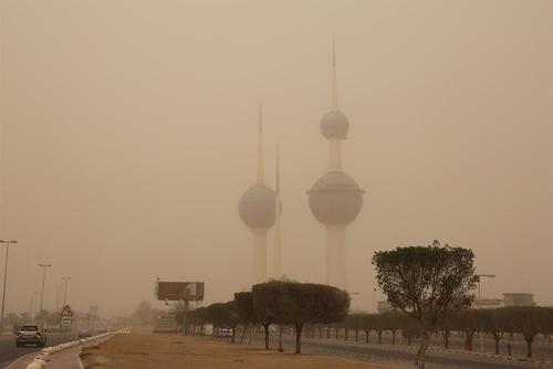 توفان شن در شهر کویت / شینهوا