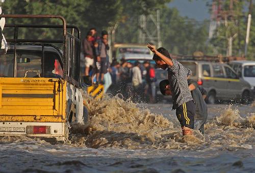 سیل در سرینگر کشمیر
