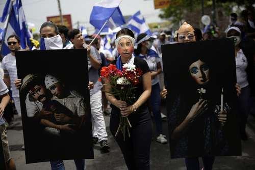 تظاهرات یادبود قربانیان کودک اعتراضات اخیر در نیکاراگوئه/عکس: EPA