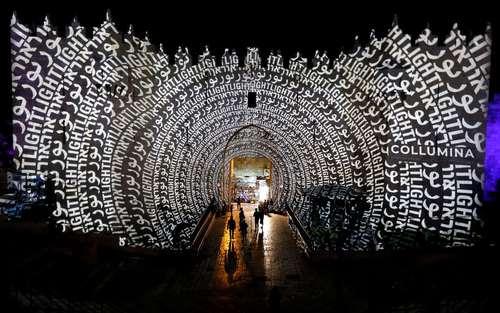 نورپردازی دروازه دمشق در شهر قدس