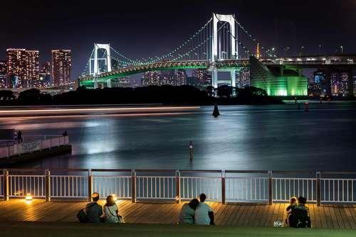 آرامش شبانه در سواحل توکیو/ خبرگزاری فرانسه