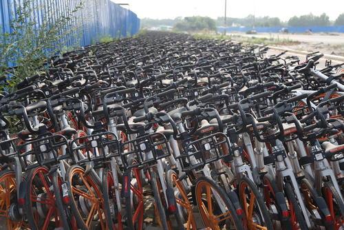 پارکینگ دوچرخه در شهر