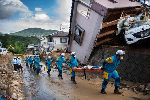 صدمات سیل و رانش زمین در جزایر کومانو و کوراشیکی ژاپن/ خبرگزاری فرانسه