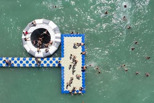 ساحل عمومی تازه تاسیس در دریاچه وان ترکیه/ خبرگزاری آناتولی