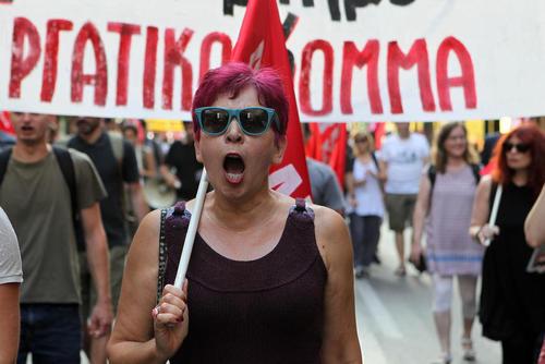 تظاهرات بر ضد پیمان ناتو همزمان با نشست سران این پیمان در مقابل سفارتخانه آمریکا در شهر بروکسل