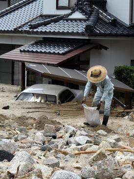 صدمات سیل در شهر هیروشیما ژاپن/ شینهوا