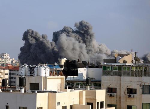 حملات هوایی اسراییل به غزه/ عکس: قدس نت