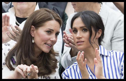 دو عروس ولیعهد بریتانیا در حال تماشای بازی فینال زنان مسابقات تنیس ویمبلدون