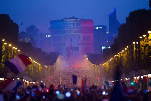 جشن قهرمانی فرانسه در جام جهانی 2018 / پاریس