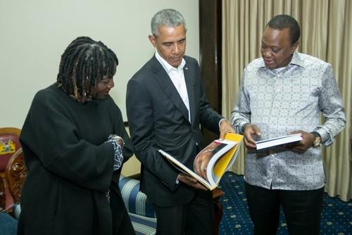 اوباما در دیدار روز یکشنبه خود با رییس جمهوری کنیا در نایروبی/ رویترز