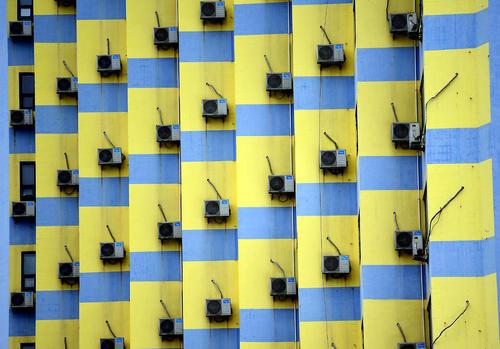 کولرهای برجی در شهر شنیان چین
