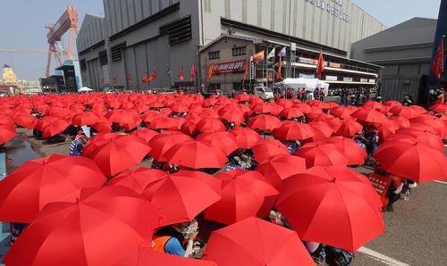 اعتصاب کارکنان شرکت هیوندای کره جنوبی برای افزایش دستمزدها/ شهر اولسان/ خبرگزاری یونهاپ