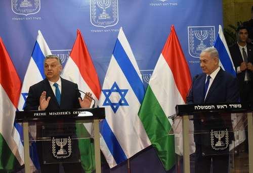 نشست خبری نخست وزیران مجارستان و اسراییل در شهر قدس/ رویترز