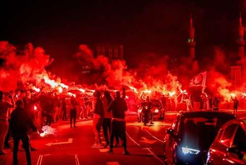 هواداران در جشن یکصدودهمین سالگرد تاسیس باشگاه فوتبال