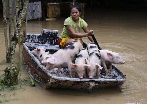 روستایی سیلزده در فیلیپین/ آسوشیتدپرس