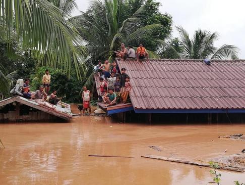 سیل در روستاهای لائوس/ شینهوا