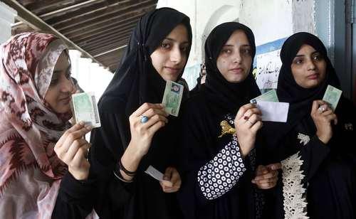 شرکت در انتخابات سراسری در راولپندی پاکستان