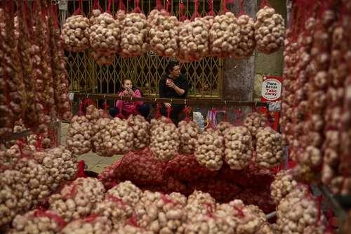 بازار سالانه سیر در باسک اسپانیا/ آسوشیتدپرس