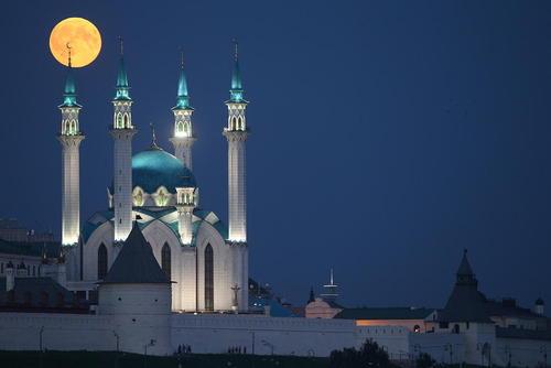 ماه گرفتگی در کازان روسیه/ ایتارتاس