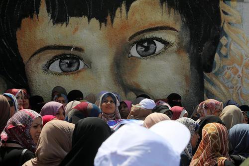 تظاهرات در مقابل مقر سازمان ملل در باریکه غزه