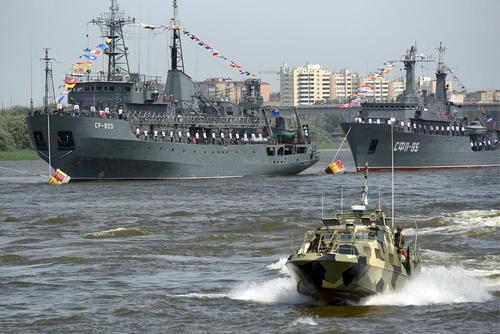 مراسم روز نیروی دریایی ارتش روسیه در بندر آستاراخان/ ایتارتاس