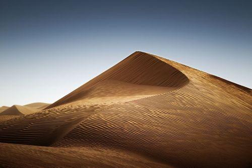 تپه شنی در صحرای امارات در نزدیکی شهر دوبی/ عکس روز وب سایت