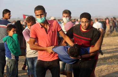 تظاهرات هفتگی ضد اسراییلی در مرز غزه با اسراییل