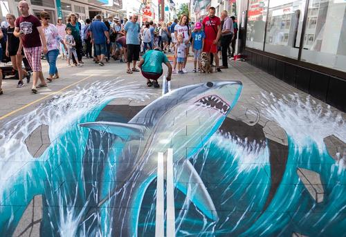 نقاشی سه بعدی در شهر