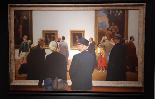 تابلو: گالری بزرگ 1947 میلادی/ نقاش: ژرژ پل لرو