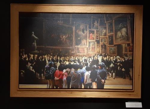 تابلو :چارلز پنجم در حال توزیع جوایز بعد از نمایشگاه 1824 میلادی/ نقاش: فرانسوا ژوزف هیم