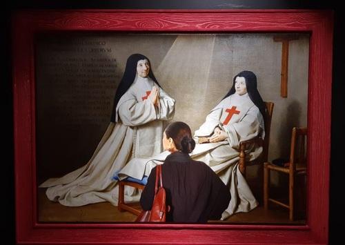 تابلو: مادر کاترین اگنس آرنولد و خواهر کاترین دو سنت سوزان دو شامپاین 1662 میلادی/ نقاش: فیلیپ دو شامپاین