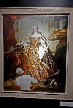 تابلو: چهره ماری لژینسکا 1740 میلادی/ نقاش: لوئی توک