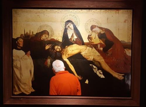 تابلو: باکره سوگوار ویلنولو آوینیون 1455 میلادی/ نقاش: انگوراند کوارتون