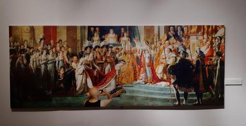 تابلو: تاجگذاری امپراطور ناپلئون اول و ملکه ژوزفین 1807-1806 میلادی/ نقاش: ژاک لویی داوید