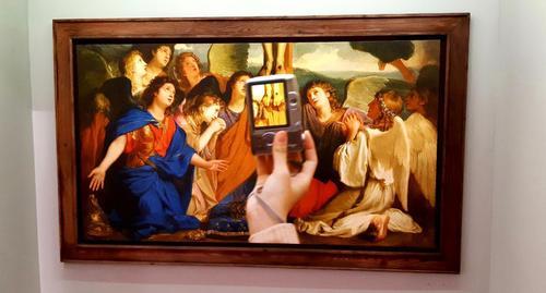 تابلو: مصلوب شدن با فرشتگان / چارلز لوبرون
