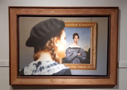 تابلو: تصویر لوئی ورنت - دختر هنرمند حدود 1829 میلادی/ نقاش: هوراس ورنت