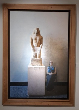 مجسمه : ناخنورهب در حال نیایش، دوره پسامتیک دوم از بیست و ششمین سلسله پادشاهی / کوارتزیت