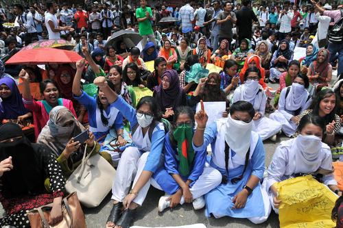 ادامه تظاهرات دانشجویی در بنگلادش