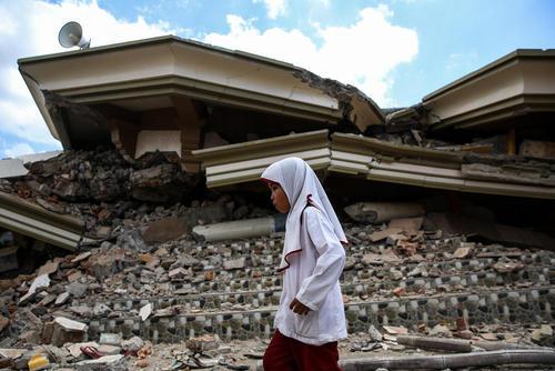ویرانیهای ناشی از زلزله شدید اخیر در جزیره لومبوک اندونزی