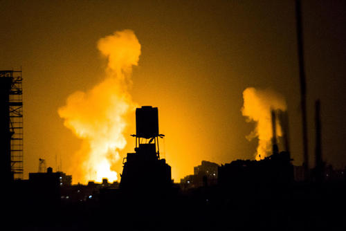 حمله هوایی اسراییل به باریکه غزه
