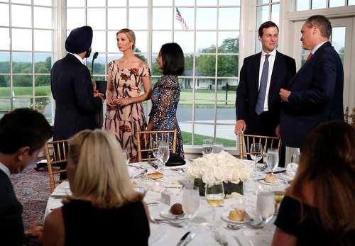 مراسم شام و سخنرانی ترامپ در جمع کارآفرینان آمریکایی در باشگاه گلف بدمینستر در نیوجرسی آمریکا