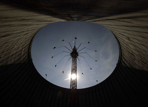 چرخ فلک در پارک واندرلند – شهر کالکار، آلمان